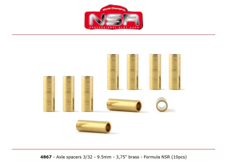 "NSR - Axles Spacers - 3/32 brass - 3,750""/9.50 mm (10 pcs)"