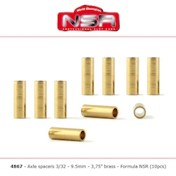 "NSR - Axles Spacers - 3/32 brass - 3,750""/9.50 mm (10 pcs)"