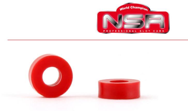 "NSR - Plastic Spacers - 2mm  - 3/32"" axle plastic spacers (10 pcs)"