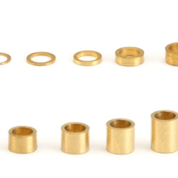 """NSR - 3/32"""" axle brass spacers -  .005"""" / 0,12 mm (10x)"""