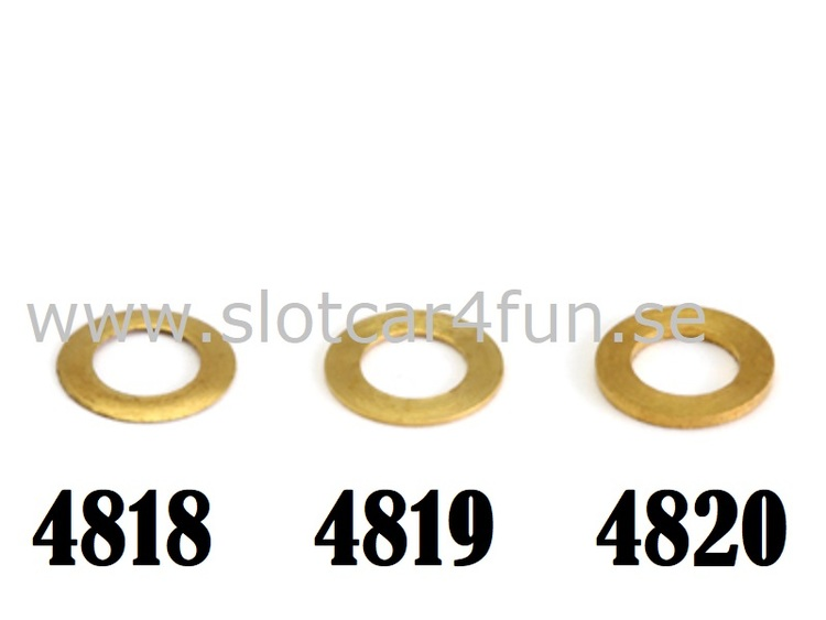 """NSR - PICK-UP GUIDE SPACERS .020""""/ 0,50 mm BRASS (10pcs)"""