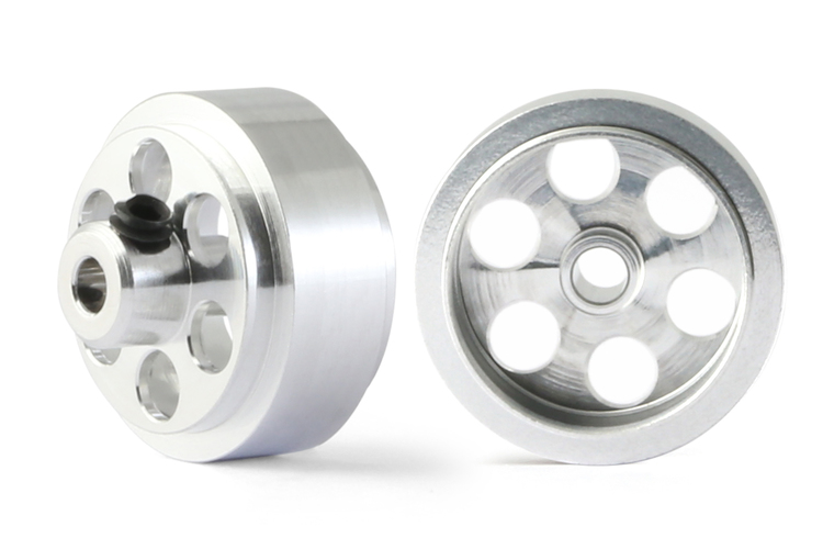 "NSR - Alu wheels 3/32"" - Front / Rear Ø 16x8mm - Ultralight & very accurate (x2)"