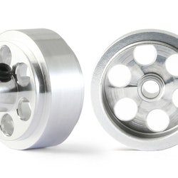 "NSR - Alu wheels 3/32"" - Front / Rear Ø 16x8mm - Ultralight & very accurate (x2)"