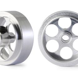 "NSR - Alu wheels 3/32"" - Front/Rear Ø 17x8mm - Ultralight & very accurate (x2)"