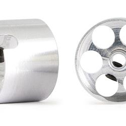NSR - 3/32 aluminium wheels rear 14,7 x 11 mm (for sponge tires - hidden screw) (x2)