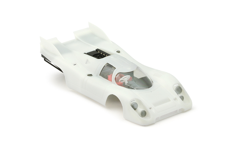 NSR - Porsche 917K - double fin - Body Kit Clear (white unpainted)