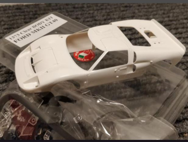 NSR - FORD MKII GT40 - Body Kit Clear (white unpainted)