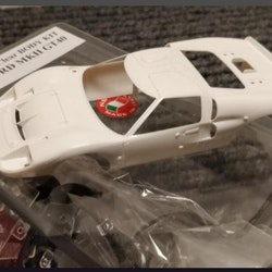 NSR - FORD MKII GT40 - double fin - Body Kit Clear (white unpainted)