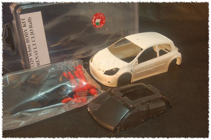 NSR - RENAULT CLIO RALLY  - Body Kit Clear (white unpainted)