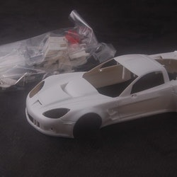 NSR - Corvette C6R - Body Kit Clear (white unpainted)