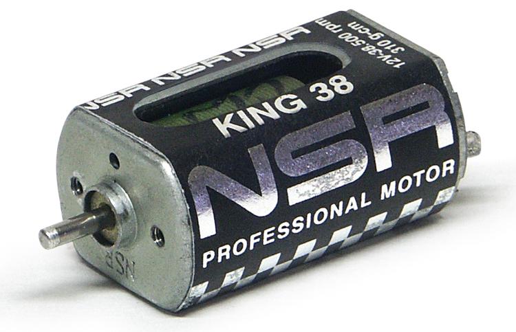 NSR - King 38 Motor - 38.500rpm - 310 g•cm @ 12V - Long can