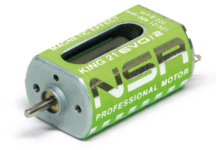 NSR - King 21K EVO/2 Motor - 21.400rpm - 322 g•cm @ 12V - Long can