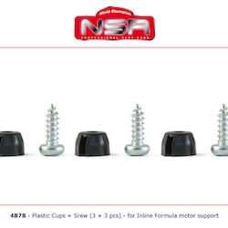 NSR - Cups of fixing - Plastic cups + screws for inline motor support (3x)