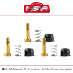 NSR - Suspensions - for inline motor mount 128x (Soft Springs)