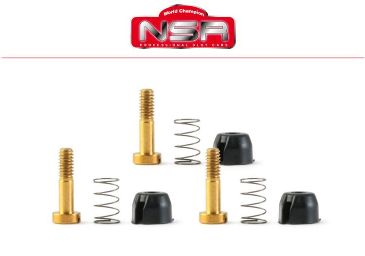 NSR - Suspensions - for inline motor mount 128x (Hard Springs)