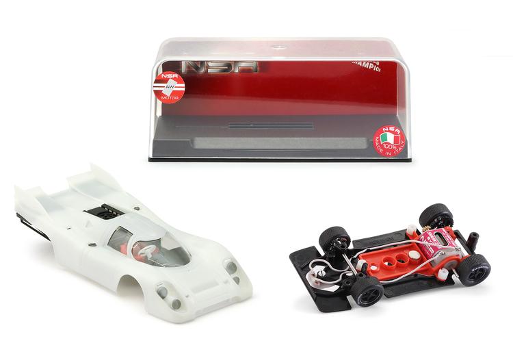 """NSR - Porsche 917K """"DOUBLE FIN"""" - Body White Kit - SW Shark EVO 21,5 21.900 rpm"""