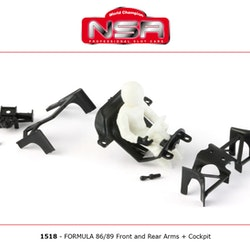 NSR - Front and rear arms + Cockpit for Formula 86/89