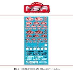 NSR - DECALS KIT - 15x8 cm (NSR Logo)