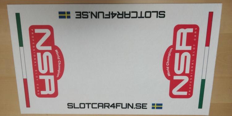 NSR - Mekmatta 60x30 cm - SLOTCAR4FUN.SE - Vit