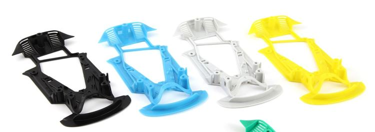 NSR - ASV GT3 HARD WHITE CHASSIS - for inline/anglew setup