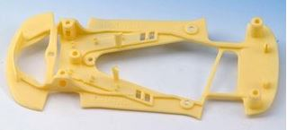 NSR - Corvette C6R Extralight YELLOW CHASSIS for inline/anglew setup