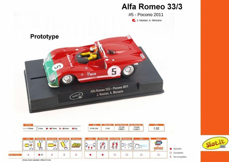 Slot.it - Alfa Romeo 33/3 - #5 Pocono 2011