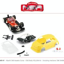 NSR - Abarth 500 Assetto Corse EVO - Body YELLOW Kit - SW Shark 21,5k rpm