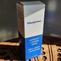 Naturligt C-Vitamin Serum + Hyaluronsyra, för ansiktet