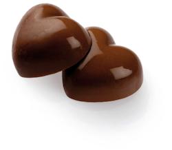 Chokladhjärta kola 1,8 kg