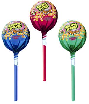 Gum Pop Frukt Mix 48 st 860 g
