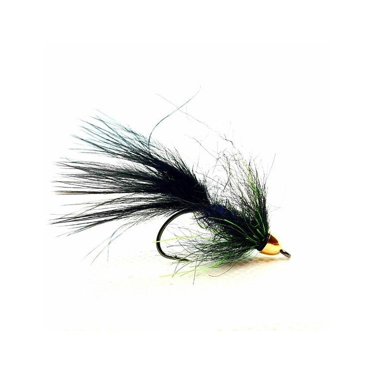 Fliegentom Streamer 3 Stück Fishmask Wooley Bugger pink