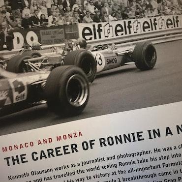 Ronnie Peterson - 16-sidigt, signerat programhäfte