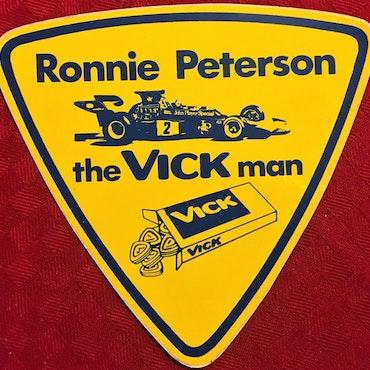 Dekal 1973/74 - Ronnie - the Vick Man - 12 x 13 cm