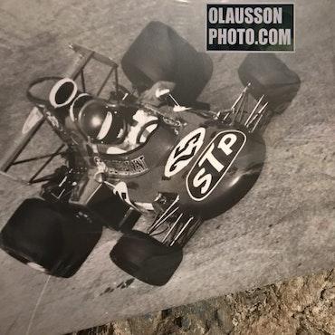 71 - Ronnie på Monza, Parabolica-kurvan - Canvastavla i format 50x70 cm