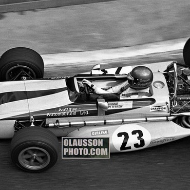 70 - Ronnies F1-debut i Monaco - Canvastavla i format 50x100 cm