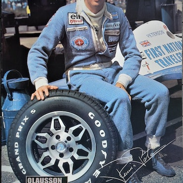 1977 - Ronnie Peterson, Tyrrell, på Anderstorp - poster 70 x 100 cm