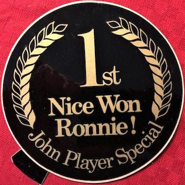 Ronnies premiärseger i Formel 1 - Frankrike '73 - vinstdekalen!