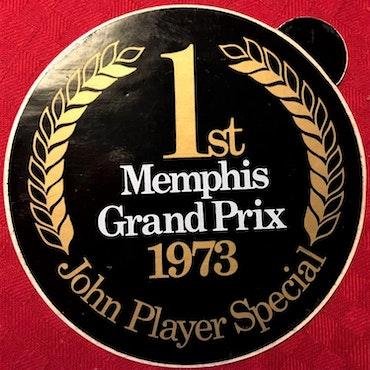 1973 - I Zeltweg vann Ronnie sitt 2a GP - originaldekal - 11 cm diam