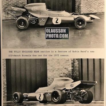 1972 - foto fabriks-March 721 - intro Ronnies VM-bil - 20x25 cm