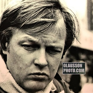 1978 - En bekymrad Ronnie inför Spaniens GP - format 15 x 20 cm
