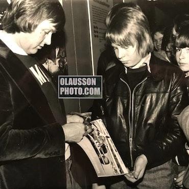 1976 - Ronnie på Malmömässan inför F1-året - format 18 x 24 cm