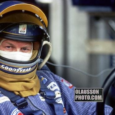 1977 - Ronnie Peterson, sliten, Anderstorp, Tyrrell - format 20x30 cm