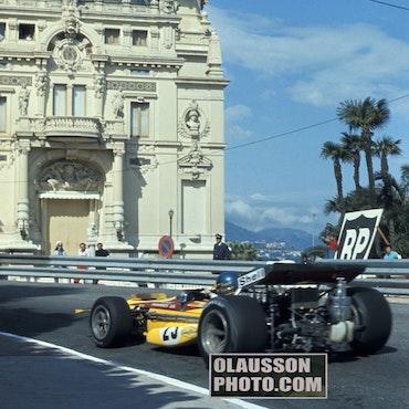 70 - F1-debut Monaco - åskådarskuggor, Ronnie i fokus, 20x30 cm