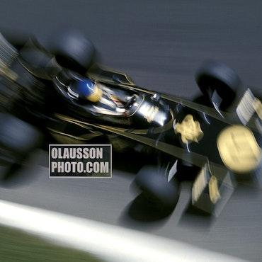 1974 - Monza - Ronnie - Lotus 72 - Parabolica - Tops! - 20 x 30 cm