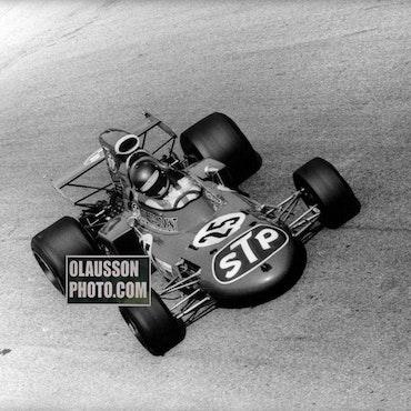 1971 - Ronnie vann nästan sitt 1a GP - 242,5 km/h i snitt - 20x30 cm