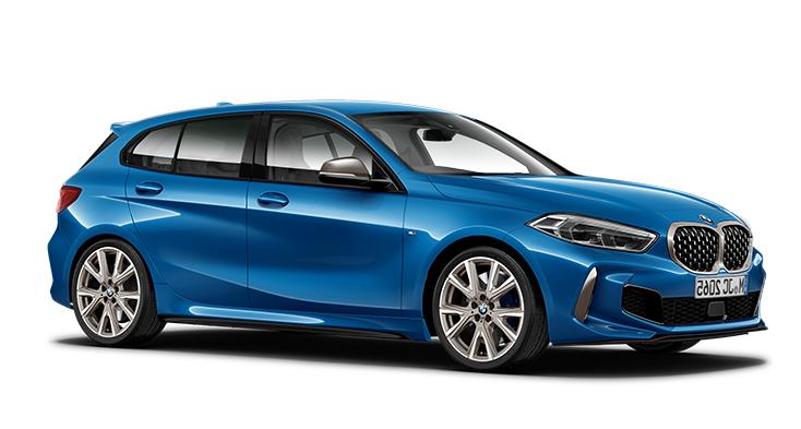 Auto raamfolie voor de BMW 1-serie 5-deurs.