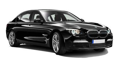 Auto raamfolie voor de BMW 7-serie.