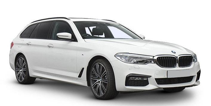 Auto raamfolie voor de BMW 5-serie Touring.