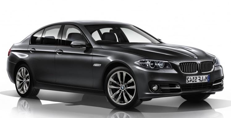 Auto raamfolie voor de BMW 5-serie sedan.