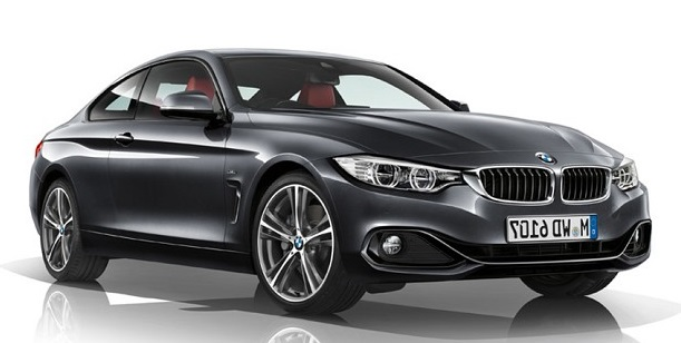 Auto raamfolie voor de BMW 4-serie coupé.